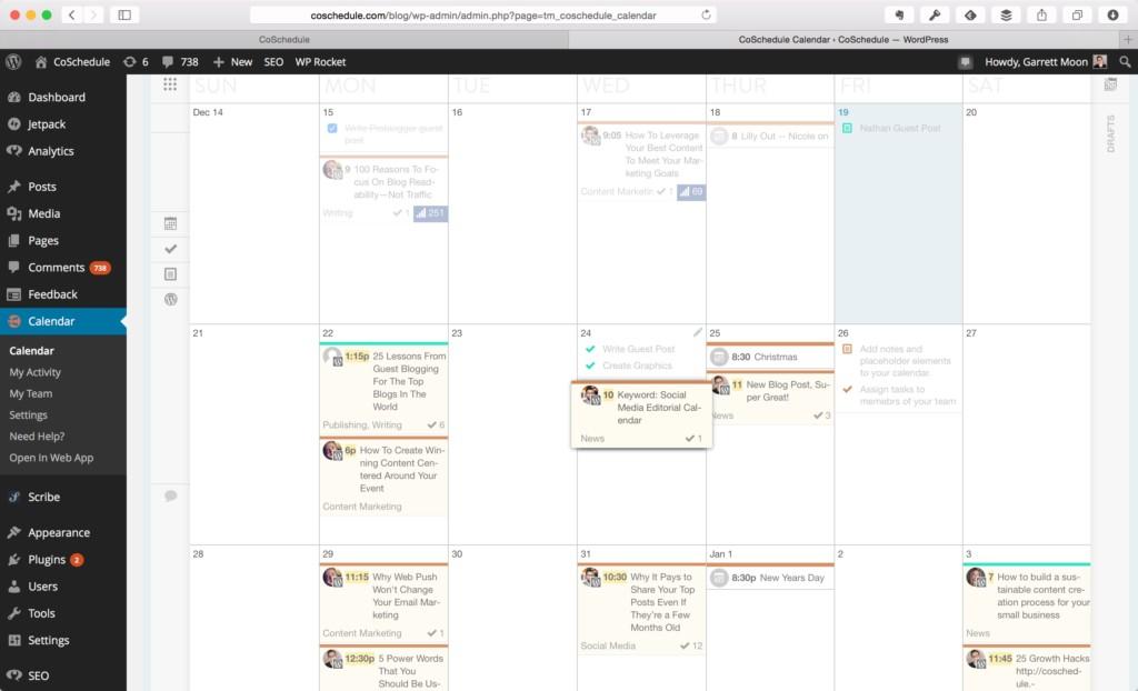 CoSchedule-WordPressCalendar