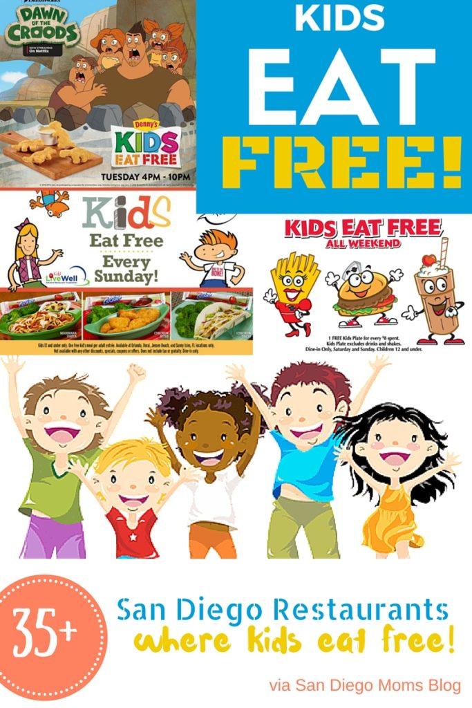 San Diego County Restaurants Kids Eat Free Guide