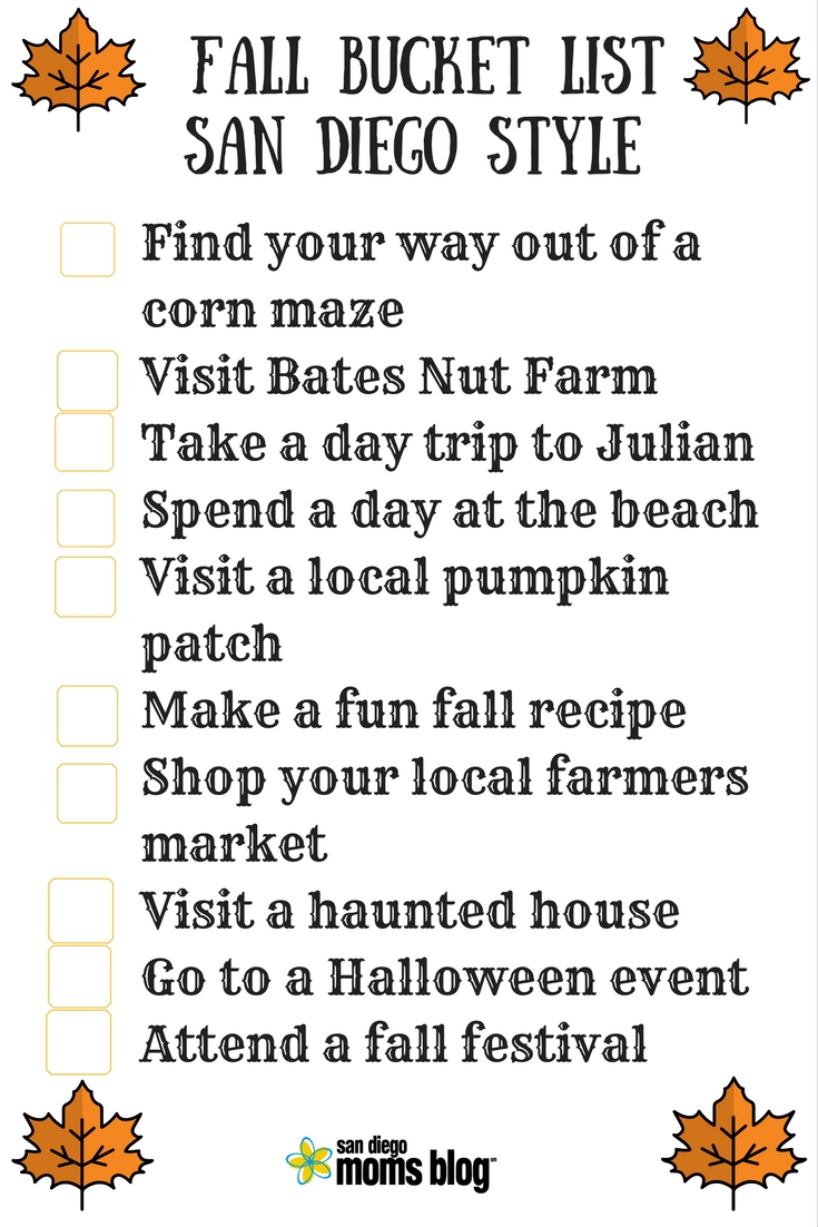 fall-bucket-list free printable