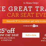 Car Seat Trade in Event at your Local Toys R Us