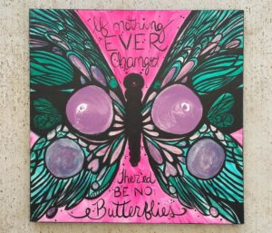 breast cancer charity, painting