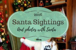 santa sightings and photos with santa
