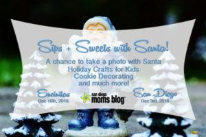 sip and sweets santa