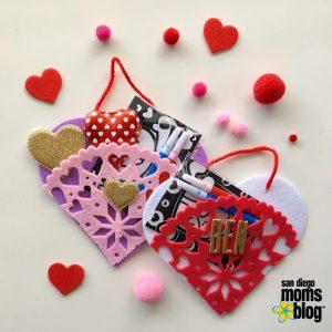 hearts, crafts, valentines, diy, felt