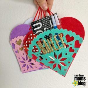 DIY Valentine felt heart