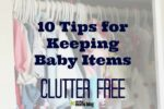 organize baby items