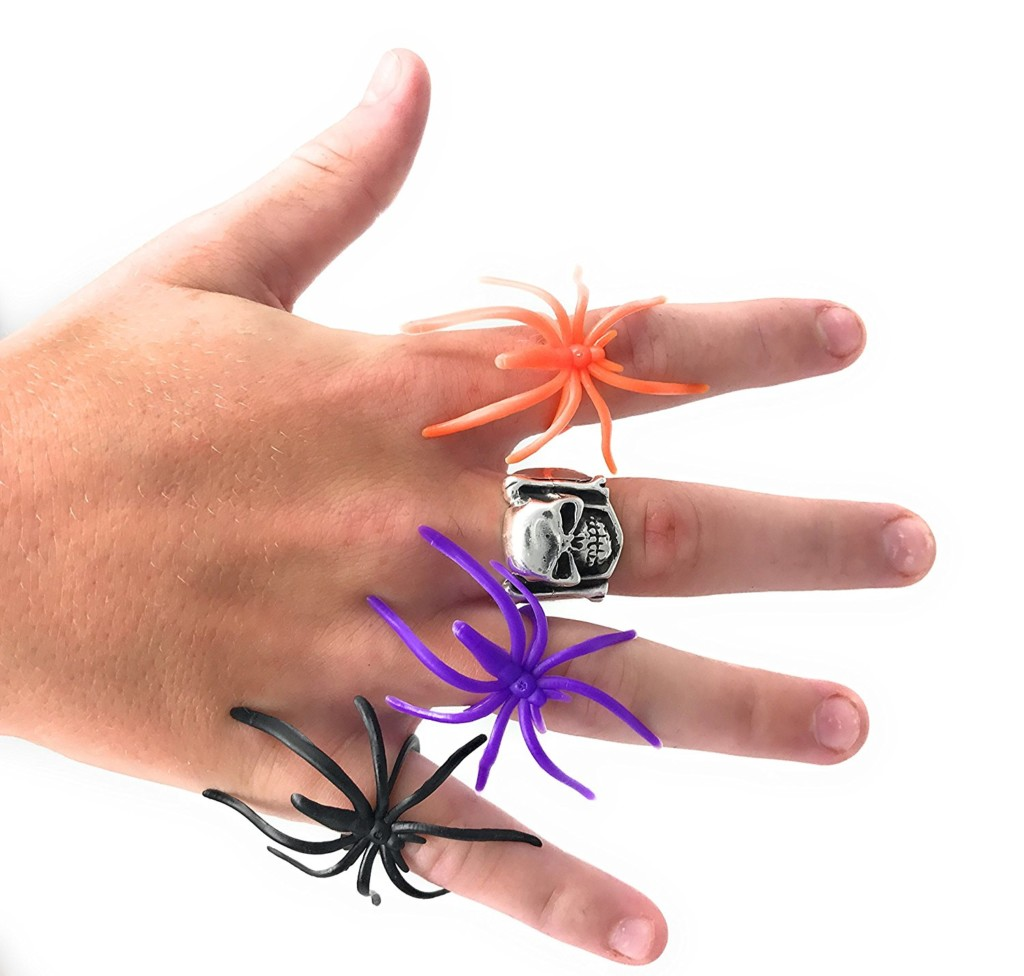 10 Treats Sans Sweet To Give Out This Halloween: #4 Glow In The Dark Spider Rings