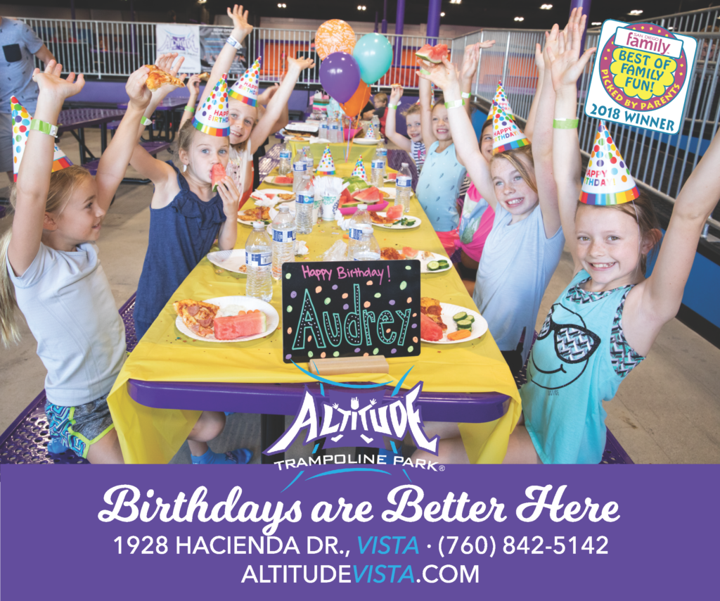 Birthdays Are Better At Altitude Trampoline Park In Vista CA Provides 26000 Sq Ft Of Cutting Edge Attractions Including Performance Trampolines