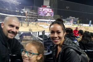 Family time at Supercross