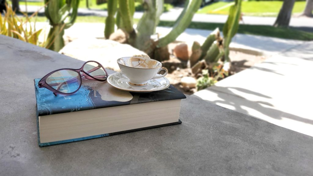 Stress Relief idea: sit on the porch with a cup of tea and a good book.