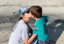 A Kiss With My Son On The Beach