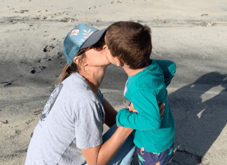 A Kiss With My Son On The Beach