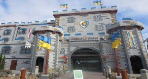 Drawbridge entrance to the Legoland Castle Hotel