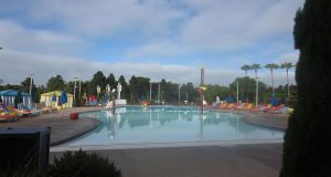 Beach entry pool at the Legoland Castle hotel