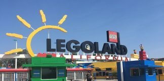 Entrance sign for Legoland California