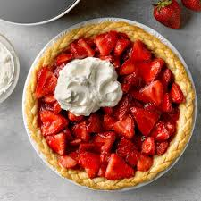 photo of fresh strawberry pie