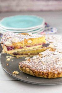 photo of cherry bakewell tart