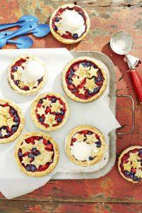 photo of mini berry pies