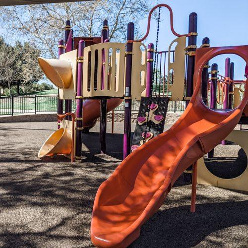 4S Heritage park; half-fenced playground