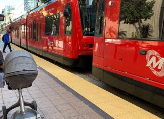trolleys easily accommodate strollers